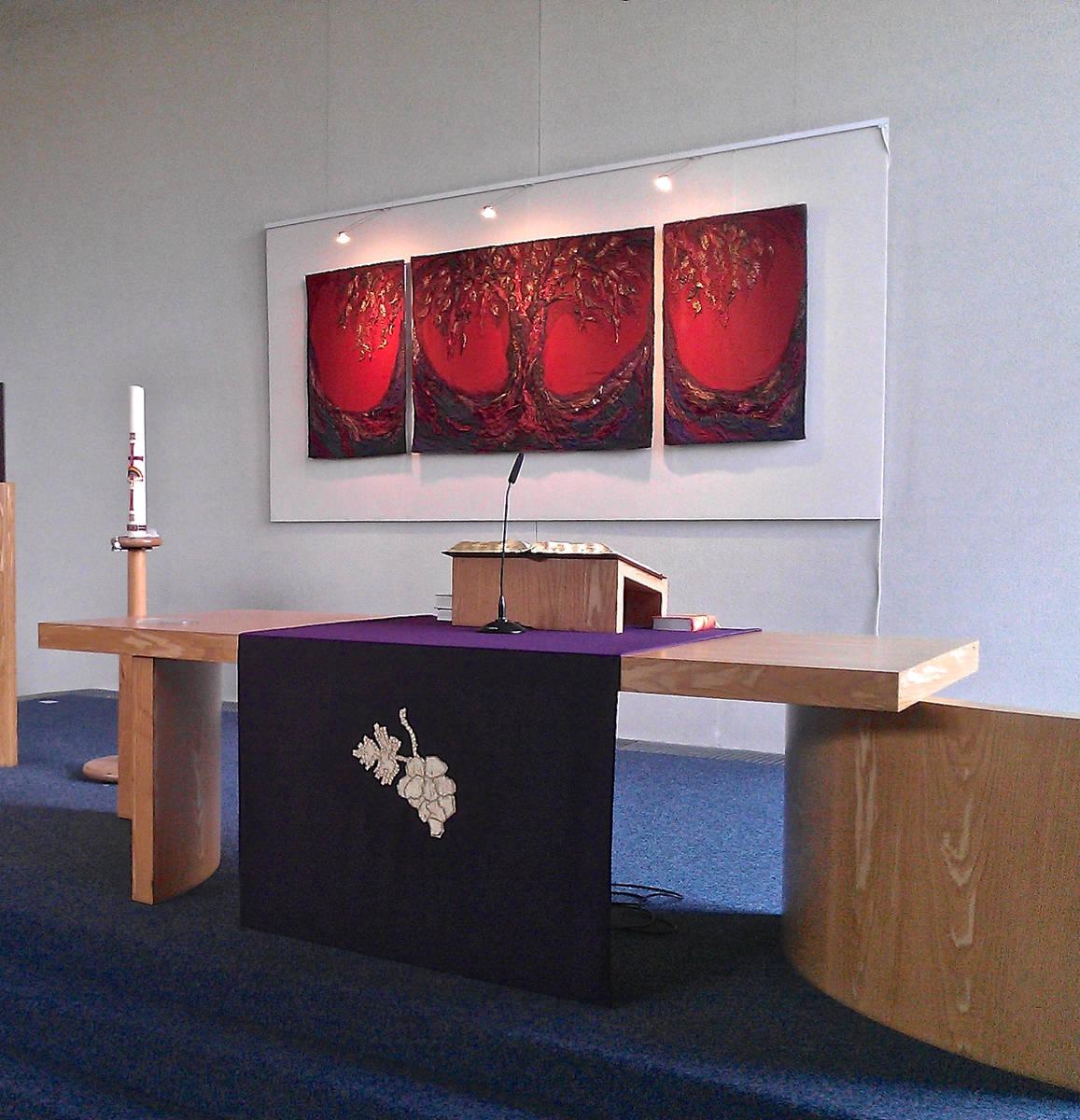 REDEMPTION TREE (Triptych)  (sold)